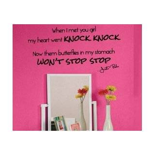 Justin Bieber Vinyl Wall Sticker Art Decal Quote Decor Inspirational