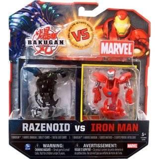 vs. Marvel 2Pack Black Razenoid vs. Iron Man Yellow Face Toys & Games