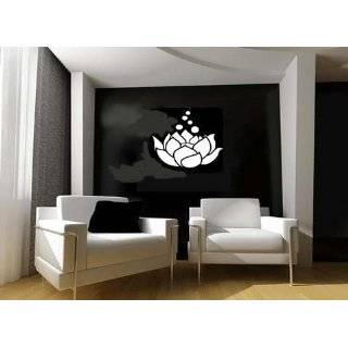 LOTUS FLOWER Giant 24 Black GIANT WALL STICKER / DECAL