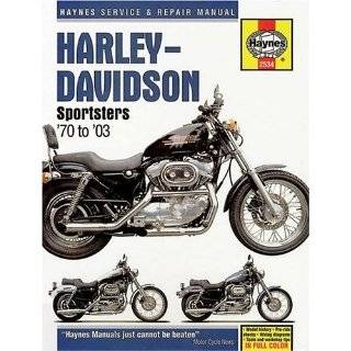 Haynes Harley Davidson Sportsters 1970 2001 Owners Workshop Manual