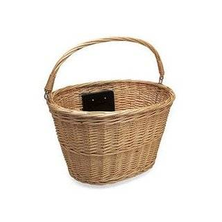 Electra Wicker Saddle Bicycle Baskets for Rear Rack Mount (Panniers