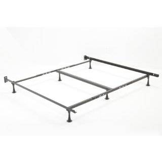 King Metal Bed Frame with Adjustable Glides with Headboard and Foot