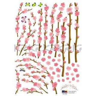Cherry Blossom Time   Loft 520 Home Decor Vinyl Mural Art Wall Paper