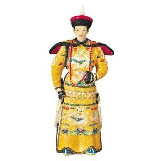 Chinese Asian Emperor and Empress Faux Ivory Statue Sculpture Figurine