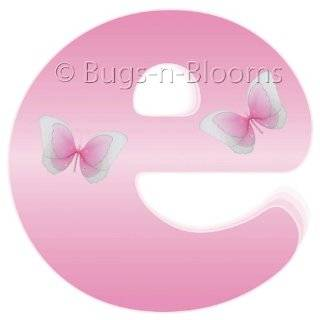Pink Butterfly Alphabet Letter Name Wall Sticker   baby nursery girls