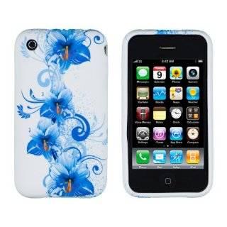 Blue Purple Daisy Flower Design Soft Crystal Skin Silicone