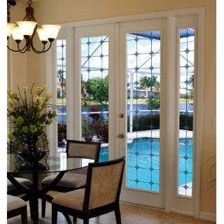 decorative window film etched glass doral door clings