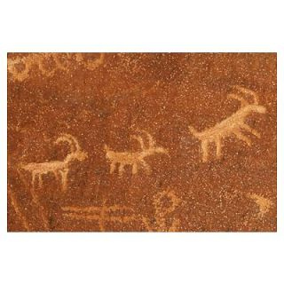 Animal petroglyphs at Atlatl Rock, Nevada Poster
