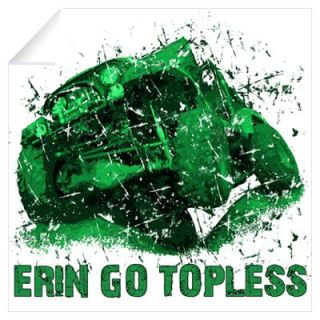 Erin, Go Topless. St. Patricks Jeep Wall Decal