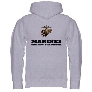 USMC   Eagle Globe Anchor Zip Hoodie by TeamWinchester