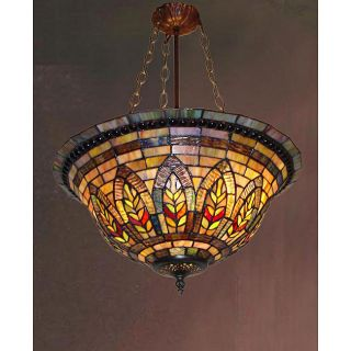 Tiffany style Stained Glass Victorian Chandelier