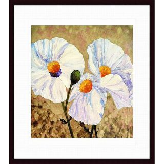 Lisa Feather Knee Paper Whites Wood framed Art Print