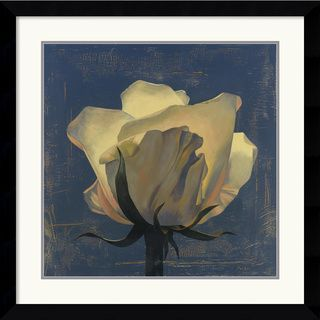 Curtis Parker Glowing White Rose Framed Art Print