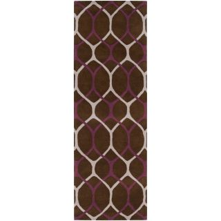 Smith Hand tufted Contemporary Brown/Purple Reddit New Zealand Wool