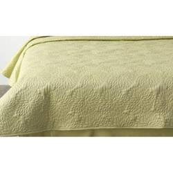 DKNY Embroidered Floral Lime Full/ Queen Quilt