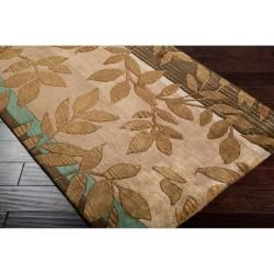 Hand tufted Brown Asteria New Zealand Wool Rug (33 x 53)