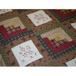 Cross Stitch Log Cabin Quilt Set