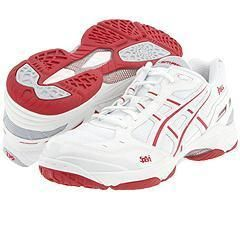 ASICS Gel Smash White/Red/Silver