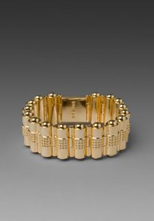 CC SKYE Pave Bullet Holder Hinged Bracelet in Gold
