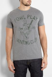 Edwin  Grey Fowl Play T Shirt by Edwin