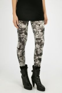 McQ Alexander McQueen  Monochrome Night Creature Print Leggings by McQ Alexander Mc