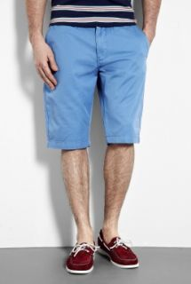 Knowledge Cotton Apparel  Blue Washed Twill Chino Shorts by Knowledge Cotton Apparel
