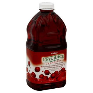 Meijer 100% Juice   Cranberry   1 Bottle (64 fl oz)