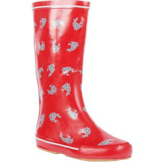 Washington State Womens Rain Boots   Logo Pattern