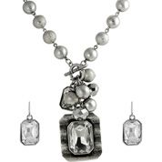Fashion Sets  Jewelry Sets  Cubic Zirconia  Earring and Necklace