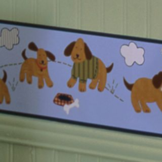Playful Puppies Nursery Wallpaper Border