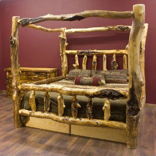 Silver Creek Aspen Canopy Log Bed