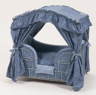 Lazy Paws Designer Canopy Pet Bed   Blue Diamonds: Pet Supplies