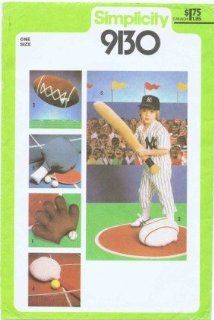 Simplicity 9130 Sewing Pattern Sports Pillows   Baseball