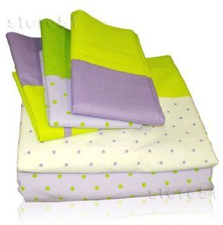 Purple Polka Dots Bedding 4 Pc Sheet Set Girls Bed Decor