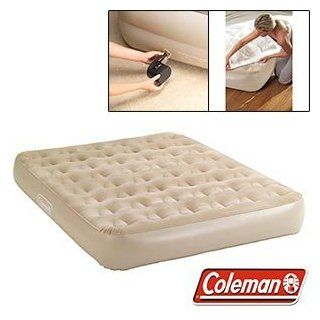 Coleman Extra High Queen Airbed Includes Portable 4D Battery Pump