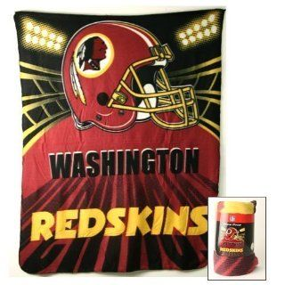 Washington Redskins Fleece Blanket (50x60): Home & Kitchen