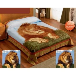 Lion King Fleece Blanket Lightweight Warm Full Twin