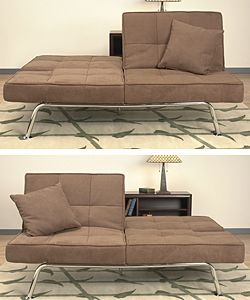 New Yorker Light Brown Microsuede Sofa Bed