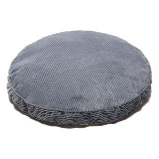 Blue Chenille Round 35 inch Pet Bed