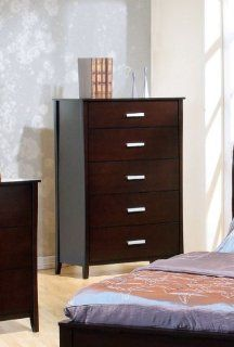 Coaster Contemporary Style Solid Wood Chest /Dresser