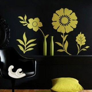 Modern House Flowers and Vase Interior Decor removable