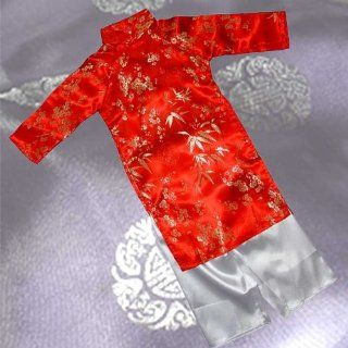 Ao Dai, Vietnamese Traditional Dress for Children   Red