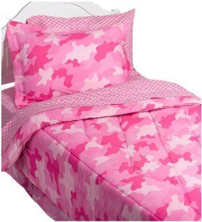 InStyle Camo Pink Bedding Set, Twin: Home & Kitchen