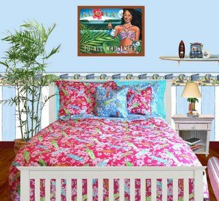 Surfer Girl Bedding   Twin Comforter w/ One (1) Standard