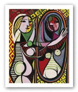 Girl Before A Mirror by Pablo Picasso 29x23.25 Art Print