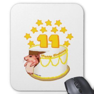 11 Year Old Birthday Cake Mouse Mouse Pads