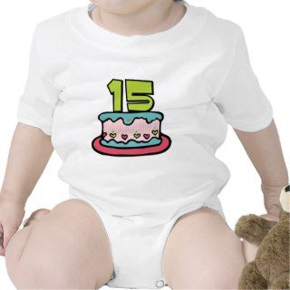 15 Year Old Birthday Cake Rompers