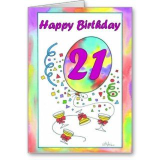 Happy 21st Birthday Card Number 21