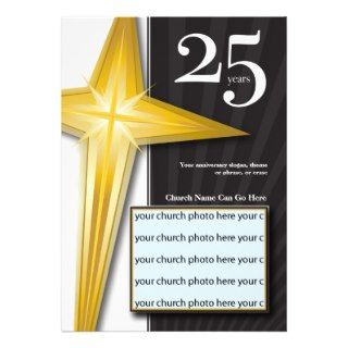 Customizable 25 Year Church Anniversary Custom Announcement