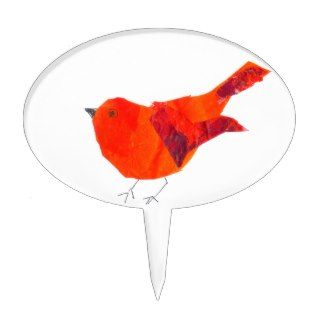 Cute Red Bird Cake Topper